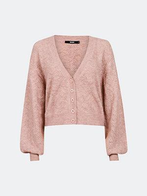 Bik Bok Grace pointelle knit cardigan - Ljusrosa