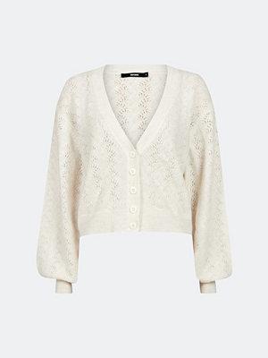 Bik Bok Grace pointelle knit cardigan - Offwhite