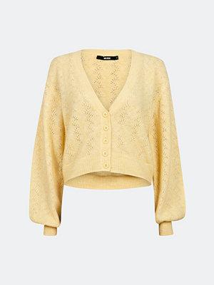 Bik Bok Grace pointelle knit cardigan - Ljusgul