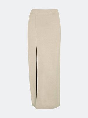 Bik Bok Zenda figursydd kjol - Ljusbrun