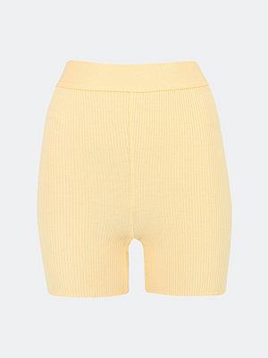Bik Bok Rib Biker shorts - Melerad ljusgul