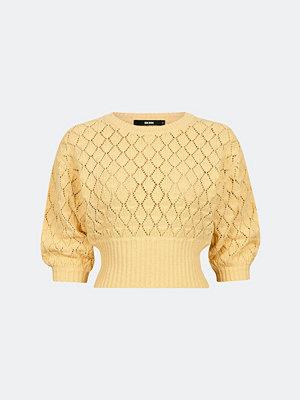 Bik Bok Short pointelle knit jumper - Melerad ljusgul