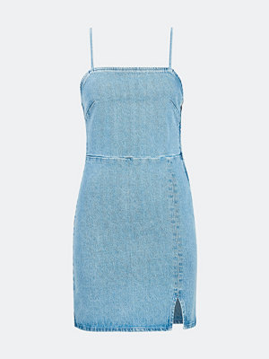 Bik Bok Kendall kort denimklänning - Blå