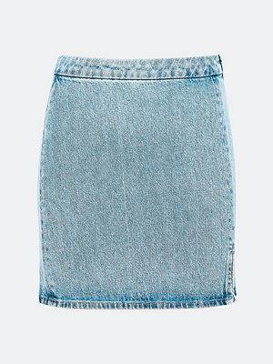 Bik Bok Kenny jeanskjol - Ljusblå