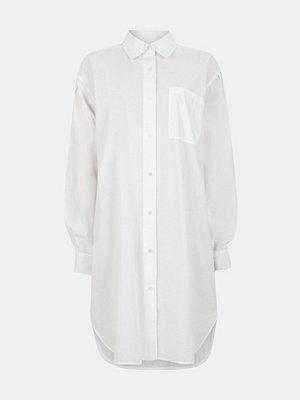 Bik Bok Linnie skjortklänning i bomull - Offwhite