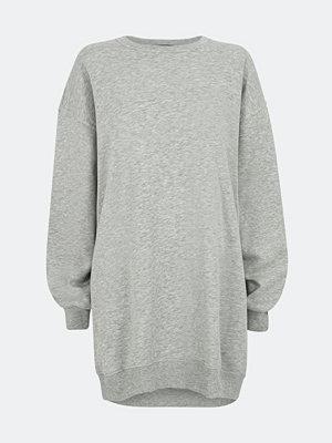 Bik Bok Clayton cotton sweat dress - Melerad grå