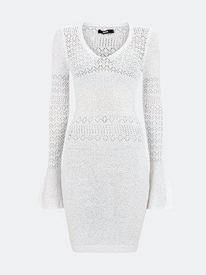 Bik Bok DEBBY stickad klänning - Vit