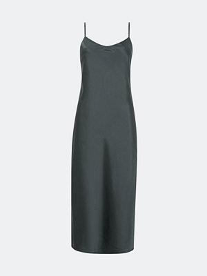 Bik Bok NYC klänning i satin - Mörkgrå