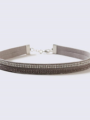 Chokers - Gina Tricot Two Row Rhinestone Choker