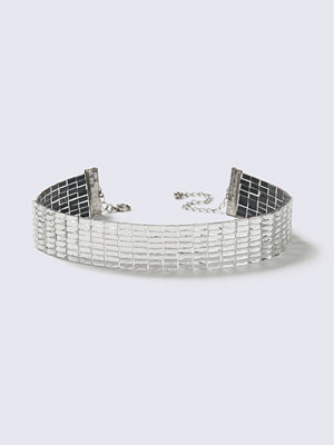 Chokers - Gina Tricot Crystal Wide Choker Necklace