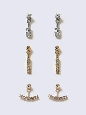 Gina Tricot örhängen Mixed Metal Rhinestone Earrings