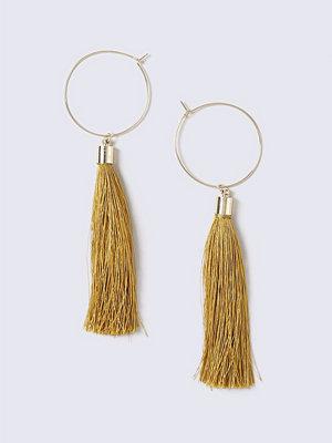 Gina Tricot örhängen Yellow Tassel Hoop Earrings
