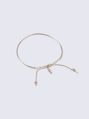 Gina Tricot armband Rose Gold Leaf And Cord Ditsy