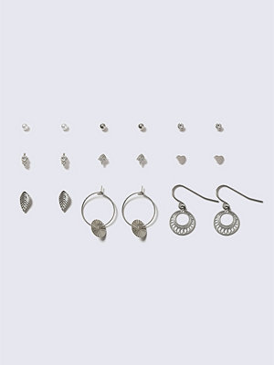 Gina Tricot örhängen Silver Leaf Tassel Stud Earrings Multi Pack