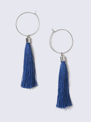 Gina Tricot örhängen Navy Tassel Hoop Earrings