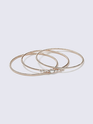 Gina Tricot armband Rose Gold Crystal Bangle Pack