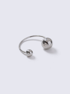 Gina Tricot Silver Open Ball Ring