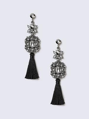 Gina Tricot örhängen Black Multifabric Tassel Earrings