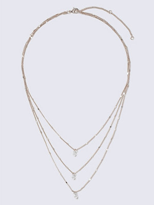 Gina Tricot halsband Rose Gold Crystal Multirow Necklace