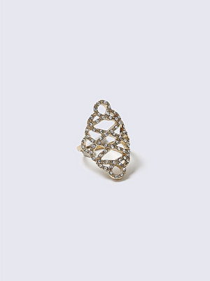 Gina Tricot Gold Crystal Swirl Ring