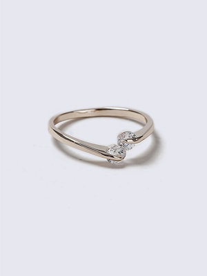 Gina Tricot Crystal Stone Loved Ring