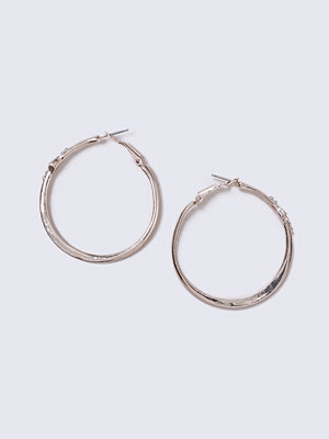 Gina Tricot örhängen Grey Rose Gold Detailed Stone Hoop Earrings