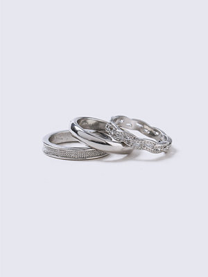 Gina Tricot Silver Twist Band Ring