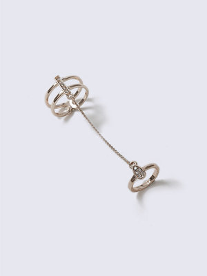 Gina Tricot Rose Gold Chain Link Ring