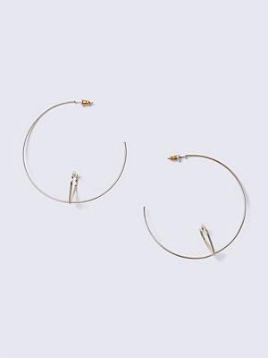 Gina Tricot örhängen Gold Heart Hoop Earrings