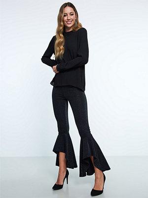 Gina Tricot svarta byxor Gia glitter leggings