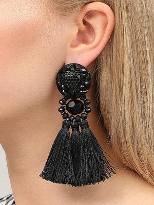 Gina Tricot örhängen Black Beaded Tassel Earrings