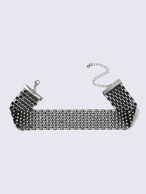 Chokers - Gina Tricot Black Crystal Sparkle Choker
