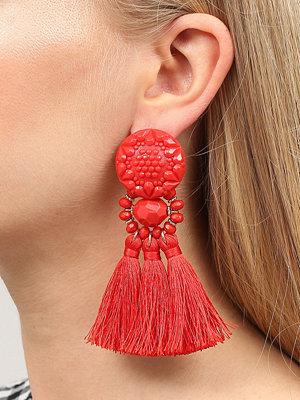 Gina Tricot örhängen Red Beaded Tassel Earrings