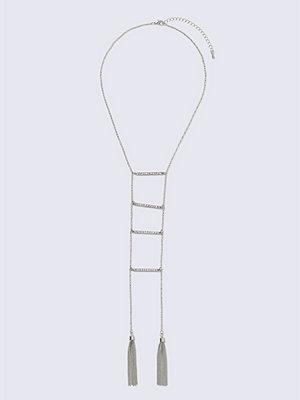 Gina Tricot halsband Crystal Rhodium Rhinesone Long Necklace