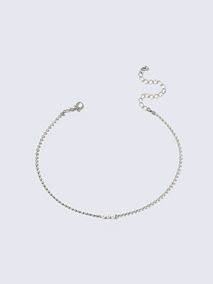 Gina Tricot halsband Crystal Pearl Choker Necklace