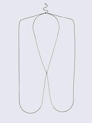 Gina Tricot smycke Crystal Gun Metal Body Chain