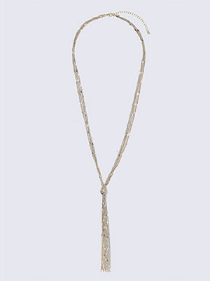 Gina Tricot halsband Mixed Metal Chain Knot Necklace