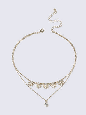 Gina Tricot halsband Gold Pearl Drop Choker