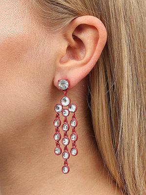 Gina Tricot örhängen Red Rhinestone Drop Earrings
