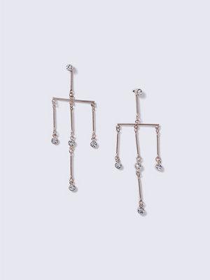Gina Tricot örhängen Crystal Rose Gold Mobile Earrings