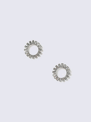 Gina Tricot örhängen Crystal Rhodium Oval Earrings