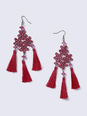 Gina Tricot örhängen Pink Fabric Statement Earrings