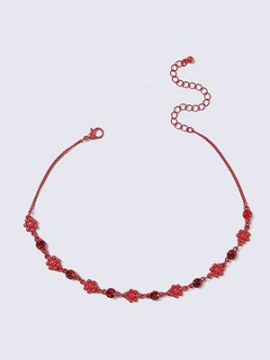 Gina Tricot halsband Red Rhinestone Choker Necklace