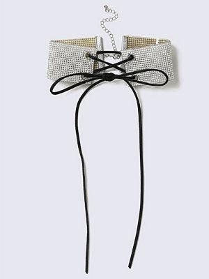 Gina Tricot halsband Crystal Rhinestone Thick Choker Necklace