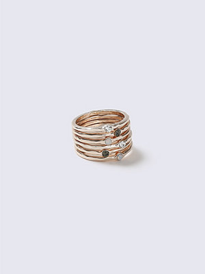 Gina Tricot Grey Loved Organic Rings