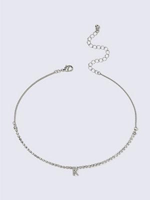 Gina Tricot halsband Crystal Rhodium K Initial