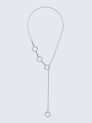 Gina Tricot halsband Mixed Metal Open Circle Necklace