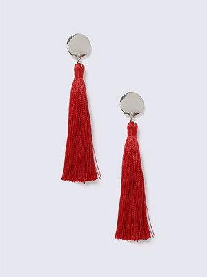 Gina Tricot örhängen Disc Red Tassel Earrings