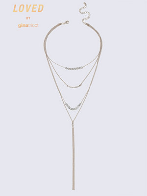 Gina Tricot halsband Rose Gold Fine Stone Necklace