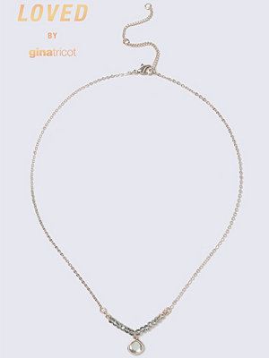 Gina Tricot halsband Grey Rose Gold Facet Necklace